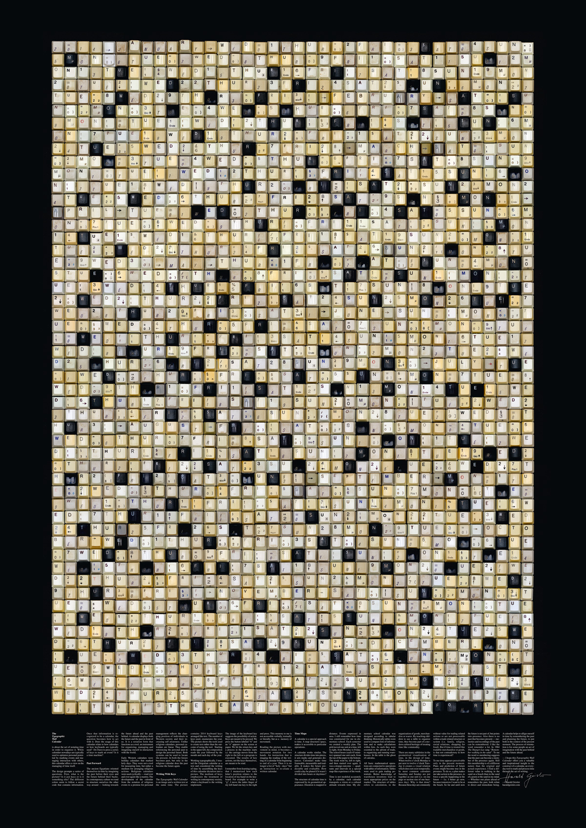 2014 Typograhic Wall Calendar