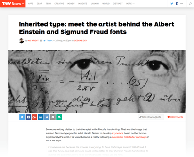 2015-05-28 Meet the artist behind the Einstein and Freud fonts - The next Web TNW-Web