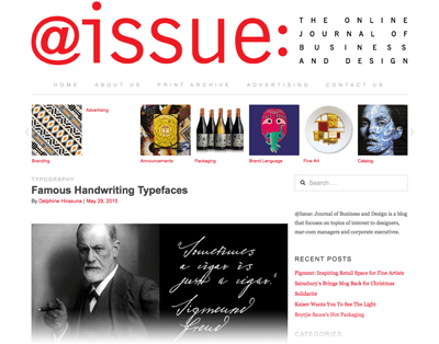 2015-05-29 Famous Handwriting Typefaces - @Issue Journal of Business & Design -Web