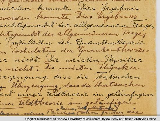 Albert Einstein Font Original und Font im Vergleich