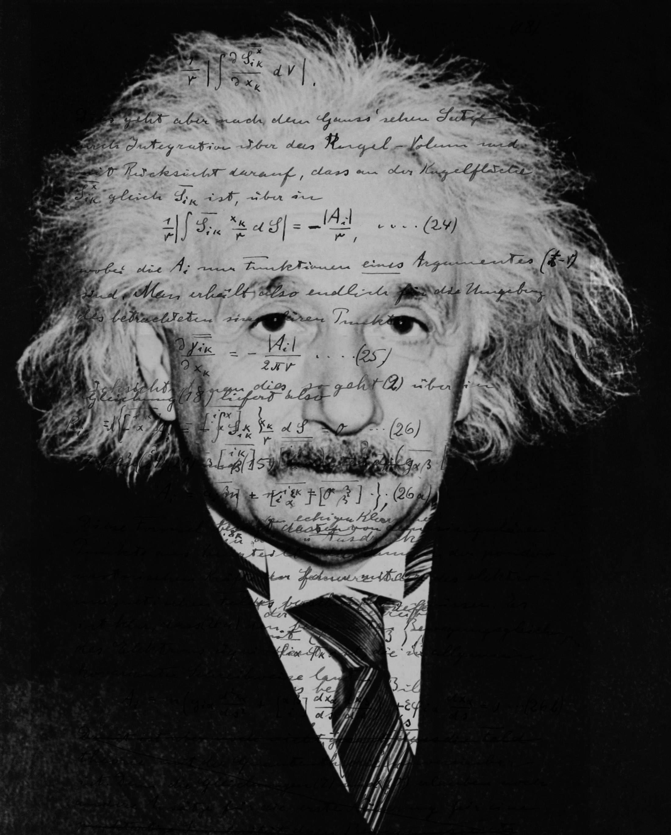 Portrait Einstein mit Font 1