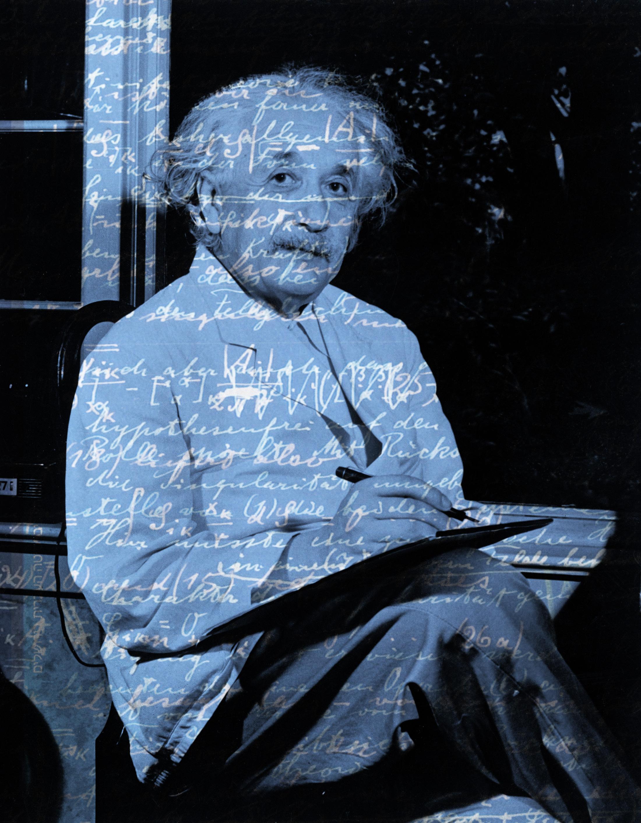 Portrait Einstein mit Font 2