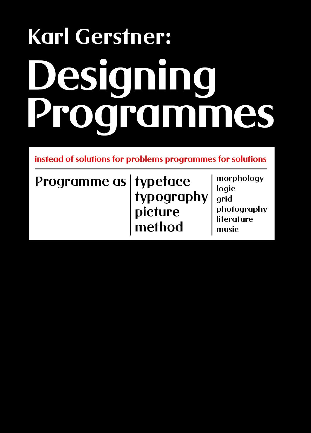 Designing Programmes Title